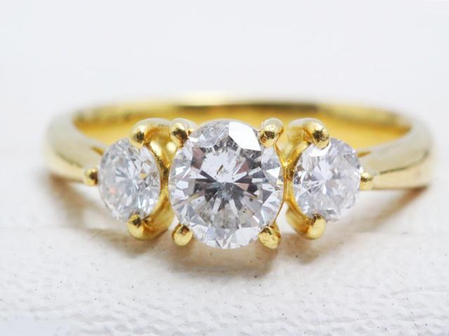 ノーブランドK18ダイヤモンドリング