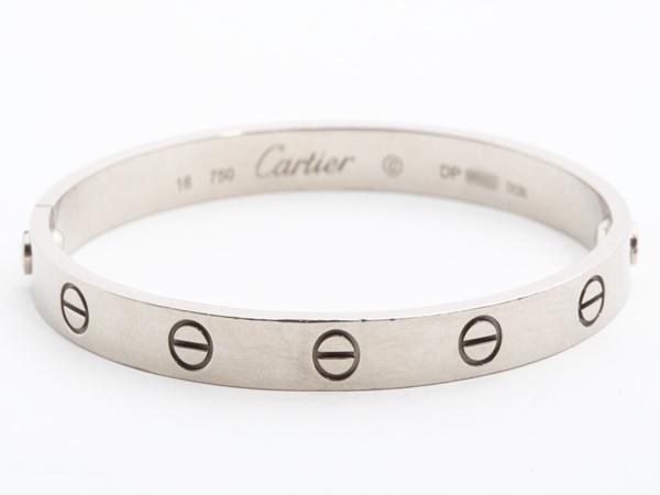 Cartier(カルティエ)K18WGラブブレス