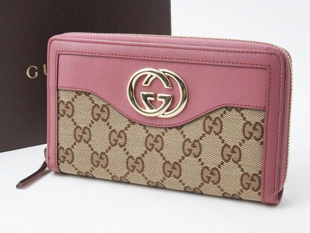 GUCCI(グッチ)GGキャンバスラウンド財布
